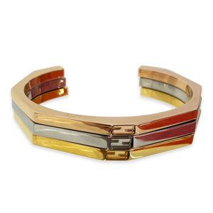 Fendi Rose Gold, Ruthenium and Gold Bangles